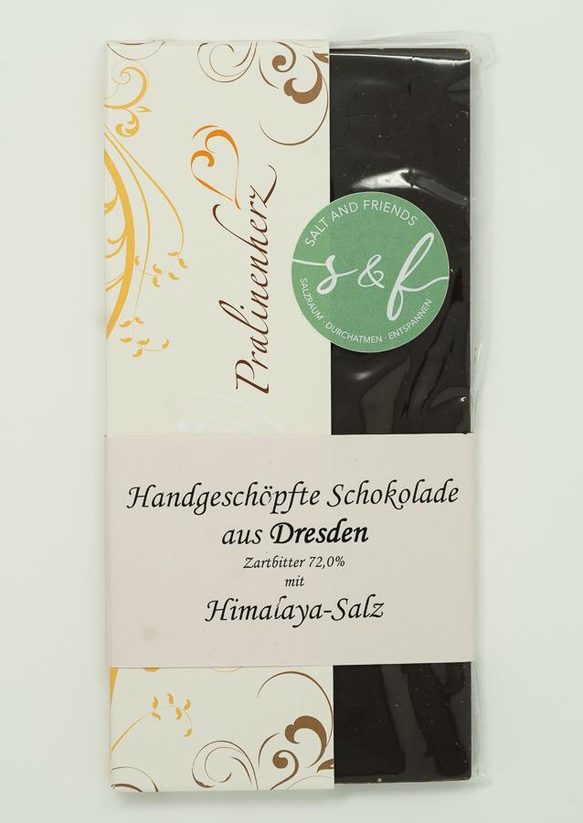 Salzschokolade Zartbitter mit Himalaya-Salz