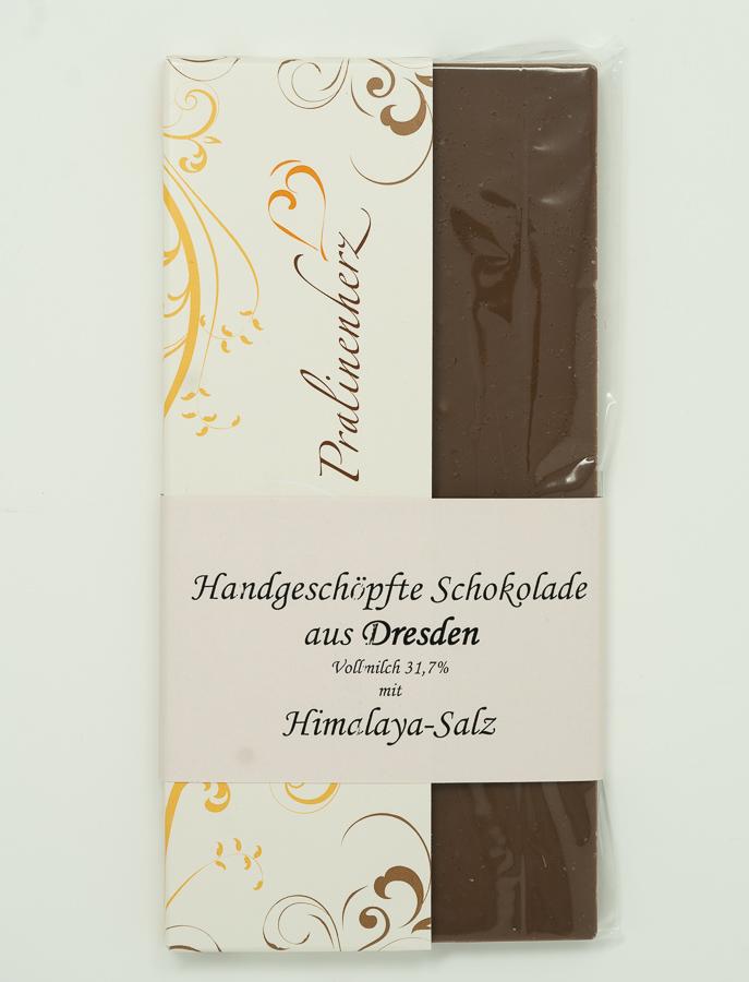 Salzschokolade Vollmilch mit Himalaya-Salz