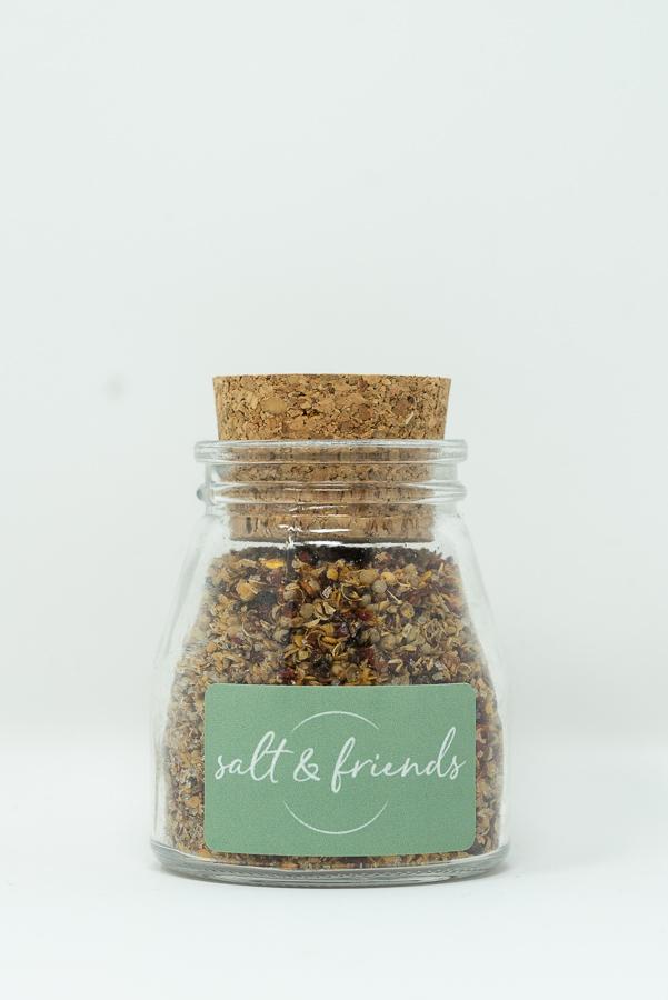 Salt and Friends Brotzeitsalz im Glas konisch 60g